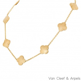 Van Cleef & Arpels Yellow Gold Alhambra Necklace